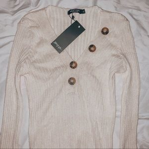 Nasty Gal sweater w buttons